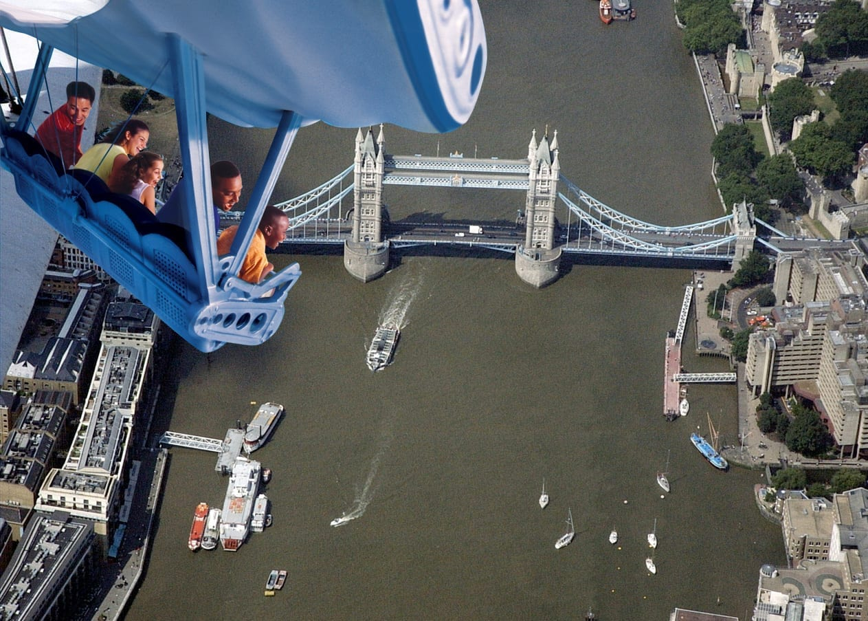 Soaring over London