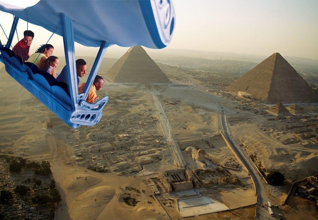 Saorin' over Egypt