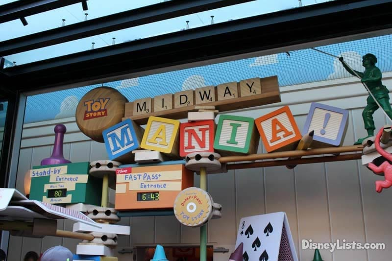 Midway Mania FastPass Entrance
