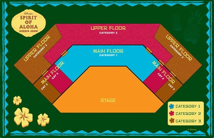 Spirit of Aloha Seating Chart