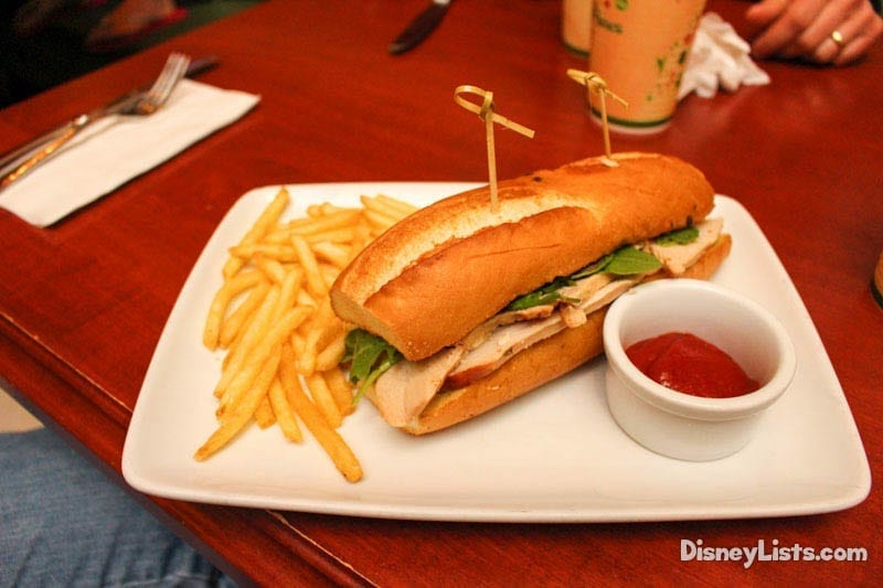 Be Our Guest Restaurant Lunch Menu