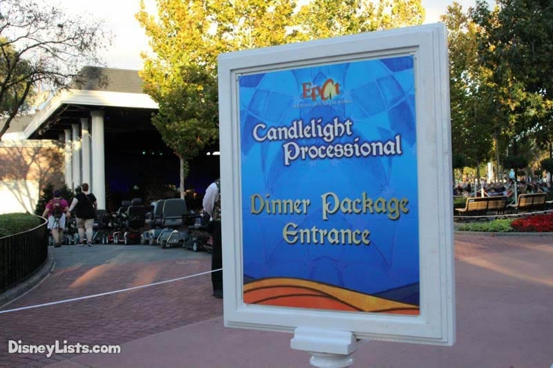Candlelight Processional Dinner Package Entrance