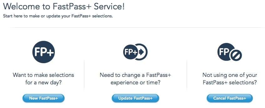 FastPass+ Signup