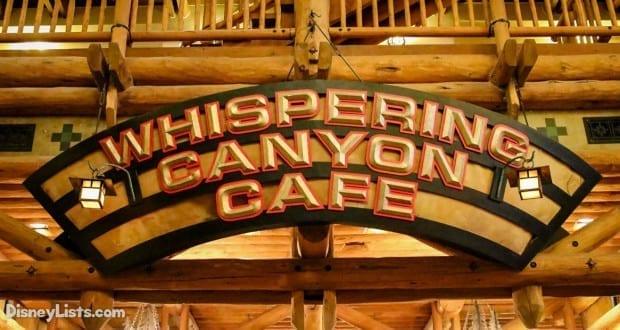Whispering Canyon Cafe Disney Reviews