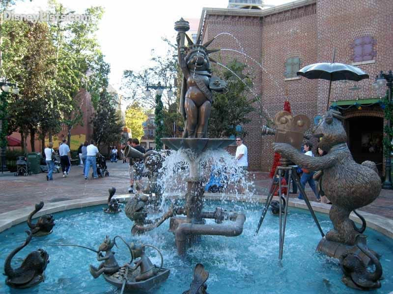Fountain outside Muppet*Vision #D