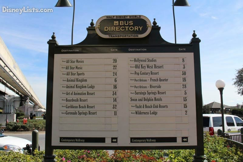 Magic Kingdom Bus Directory