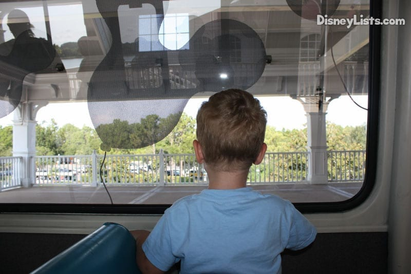 Boy on Monorail