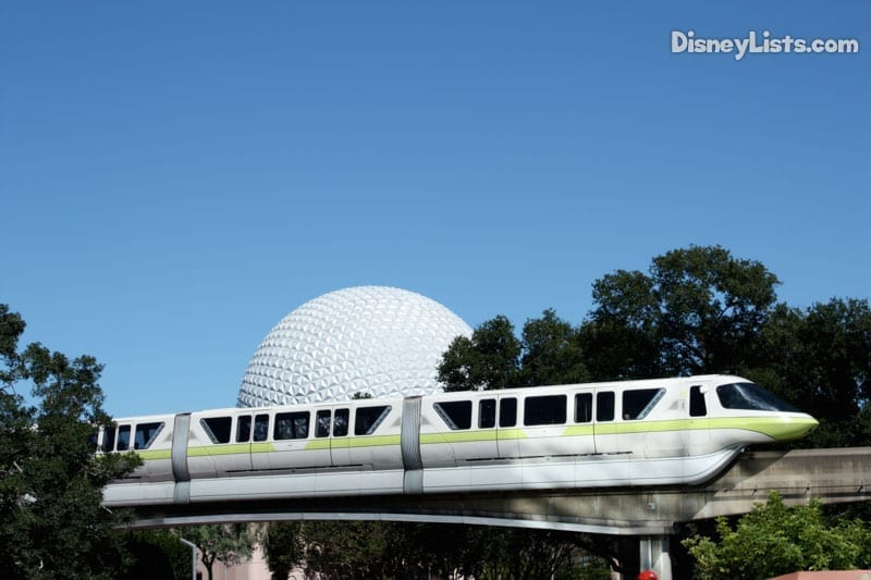 Monorail through Epcot