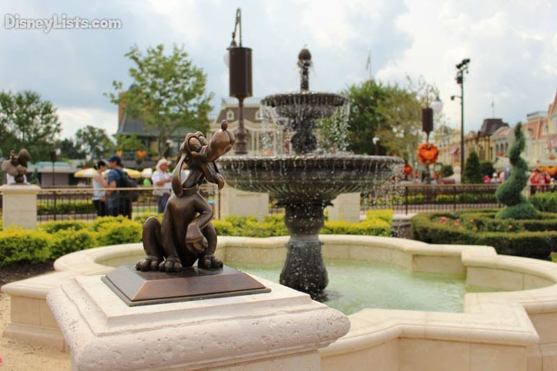 Pluto and Fountain at MK Hub