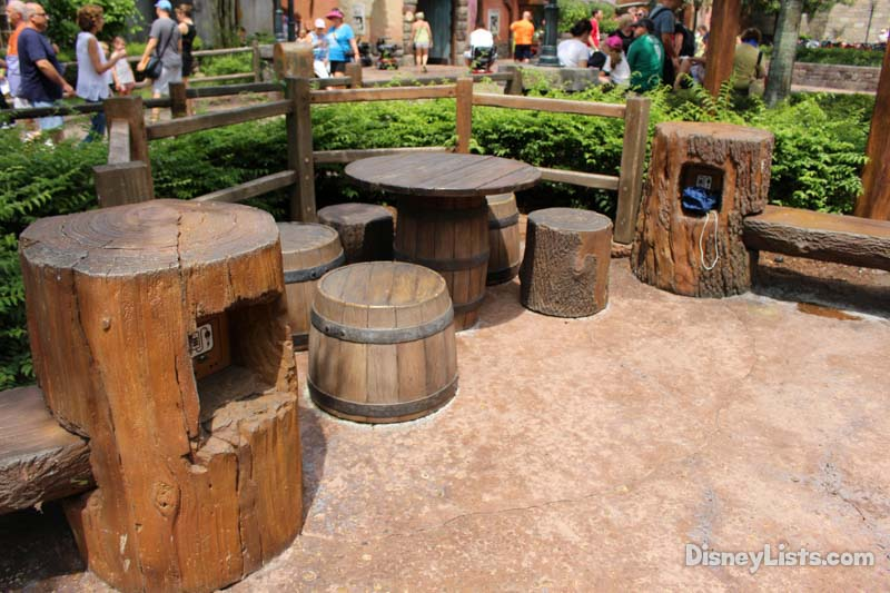 Tangled Bathroom Area Charging Stations in Magic Kingdom