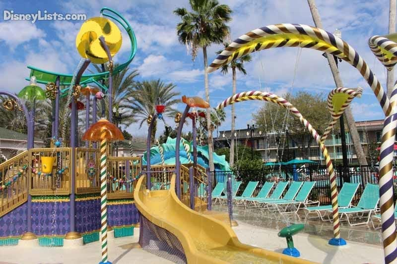 The Aquatic Play Area at Port Orleans French Quarter