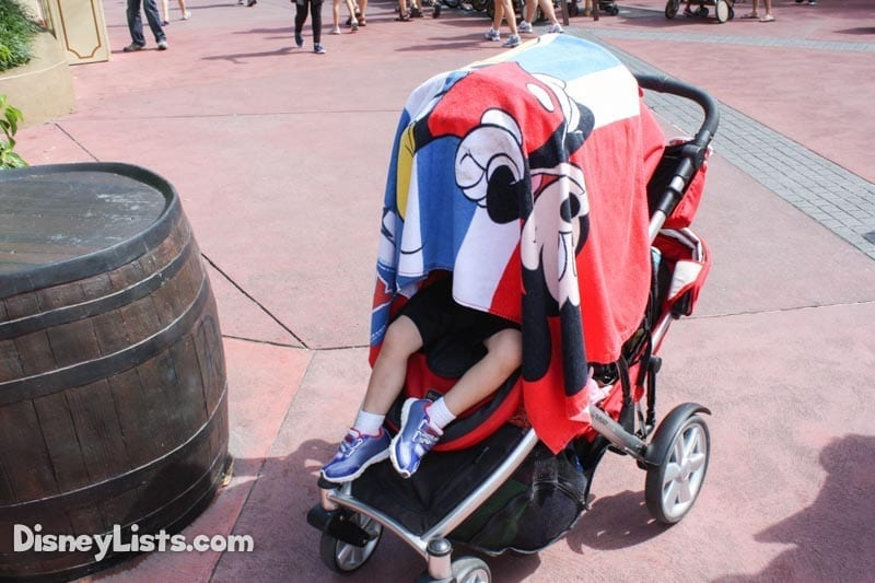 Kid Sleeps in Stroller