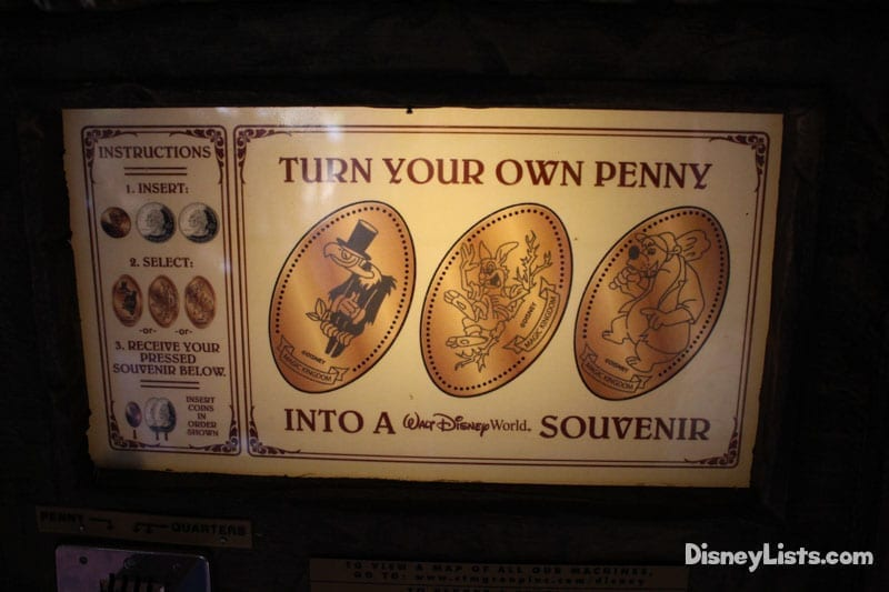 Splash Mountain Pressed Pennies