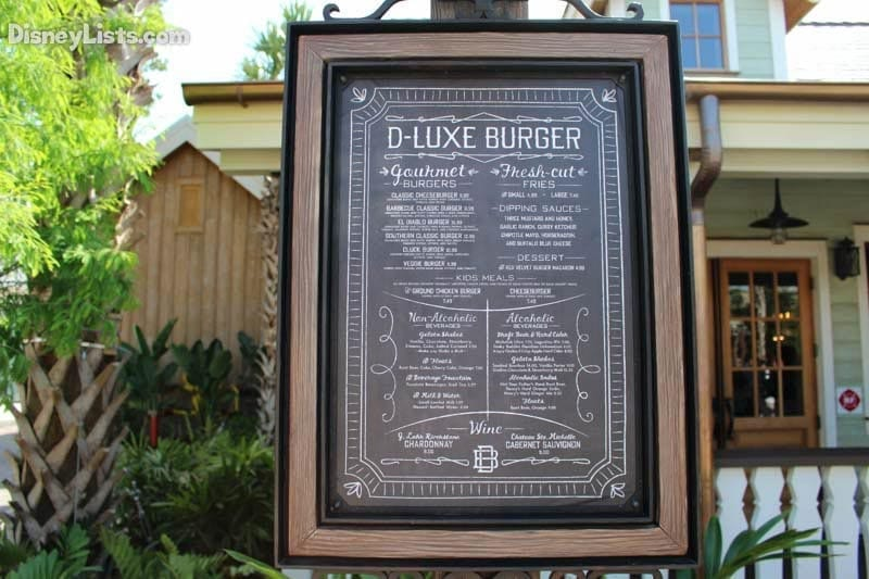 D-Luxe Menu Board