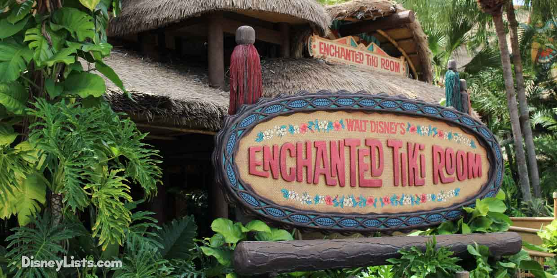 Enchanted Tiki Room Menu