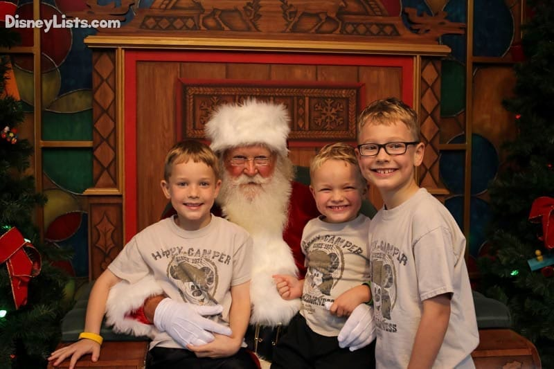 Kids with Santa at Disney Springs
