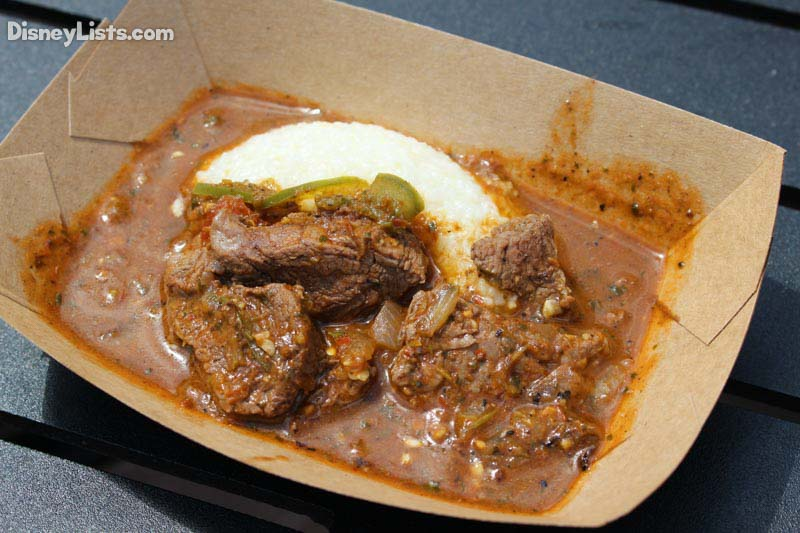Berbere-style Beef Tenderloin Tips with Onions, Jalapeños, Tomato and Pap