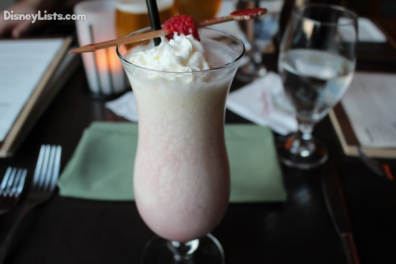 Raspberry Rapids: Frozen Coconut Cream and Pineapple Juice with Myers's Platinum Rum and Chambord