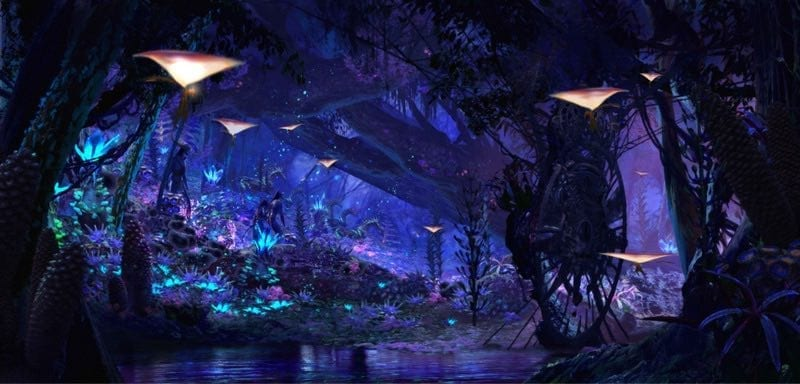 Pandora – The World of AVATAR will bring a variety of new experiences to Disney's Animal Kingdom, including a family-friendly attraction called Na'vi River Journey. The adventure begins as guests set out in canoes and venture down a mysterious, sacred river hidden within the bioluminescent rainforest. The full beauty of Pandora reveals itself as the canoes pass by exotic glowing plants and amazing creatures. The journey culminates in an encounter with a Na'vi shaman, who has a deep connection to the life force of Pandora and sends positive energy out into the forest through her music. Na'vi River Journey will open with Pandora – The World of AVATAR in 2017. Disney's Animal Kingdom is one of four theme parks at Walt Disney World Resort in Lake Buena Vista, Fla. (Disney)