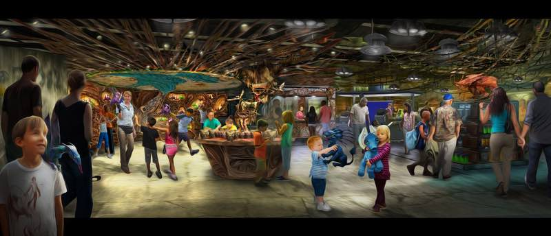 Opening in summer 2017 at Disney's Animal Kingdom, Pandora-The World of Avatar will bring a variety of new experiences to the park, including a family-friendly attraction called Na'vi River Journey and new food & beverage and merchandise locations. Windtraders, (pictured here) travelers can find Na'vi cultural items, toys, science kits, and more.Disney's Animal Kingdom is one of four theme parks at Walt Disney World Resort in Lake Buena Vista, Fla. (David Roark, photographer)
