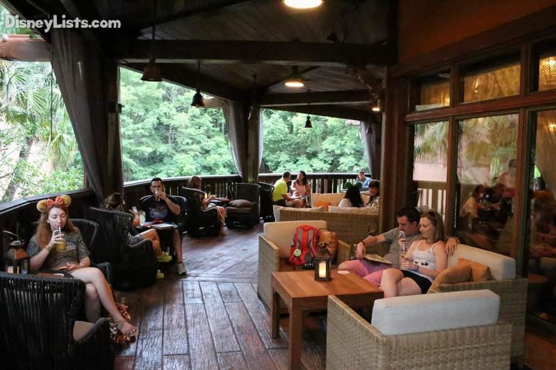Outdoor Seating Area at Nomad Lounge at Disney's Animal Kingdom